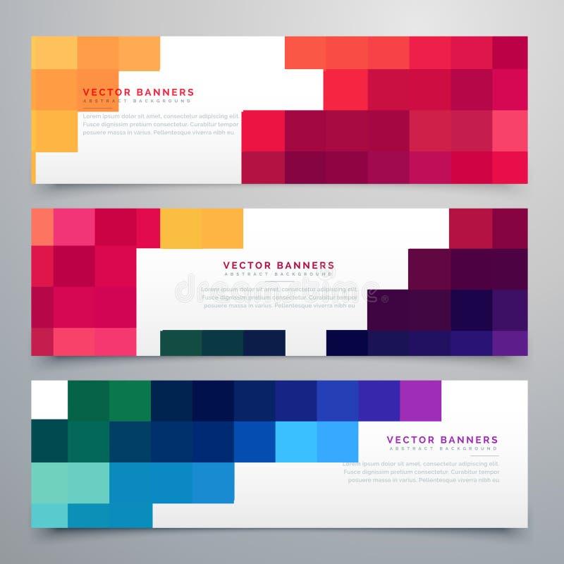 Cartes réglées par en-têtes colorés de mosaïque illustration libre de droits