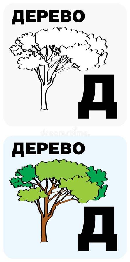 Cartes russes d'alphabet illustration de vecteur
