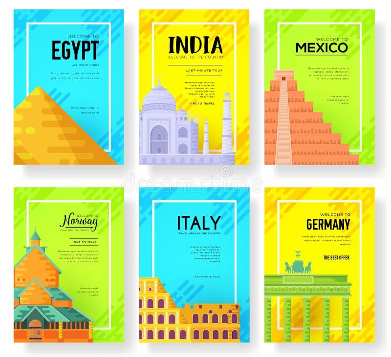 Cartes traditionnelles de l'information de voyage Aménagez le calibre en parc de flyear, magazines, affiches, couverture de livre illustration de vecteur