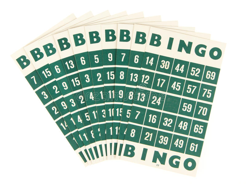 Cartes vertes de bingo-test d'isolement images libres de droits
