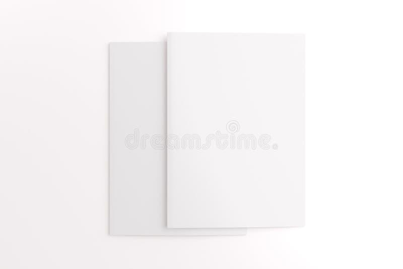 Cartes vierges d'isolement sur le blanc image libre de droits