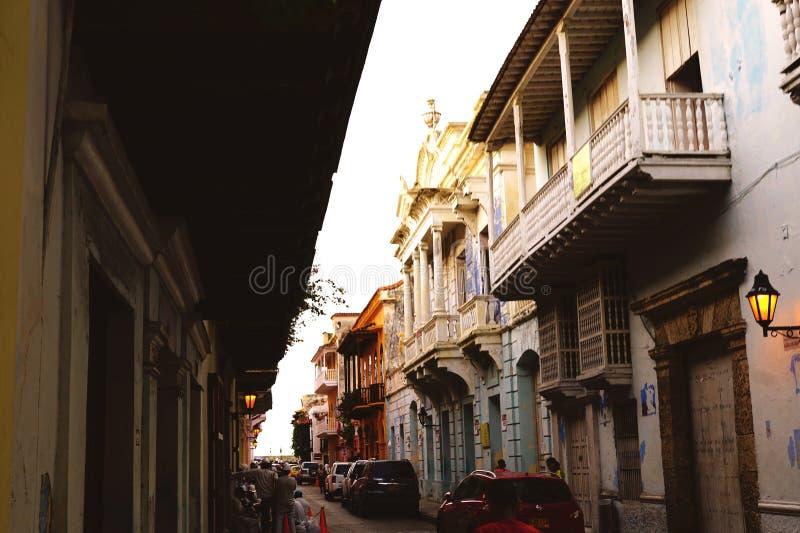 Carthagène colonial photo stock