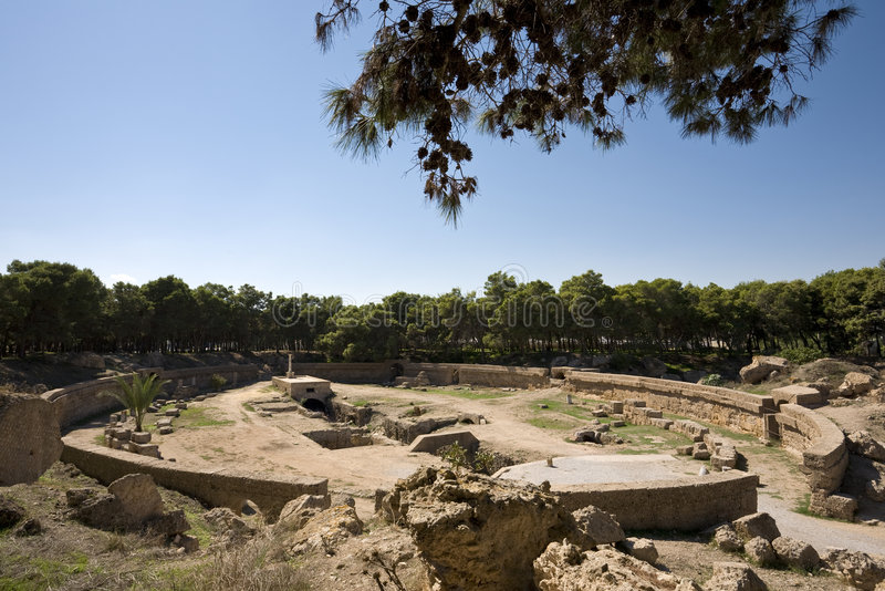 Download The Carthage amphitheatre stock photo. Image of building - 7755732