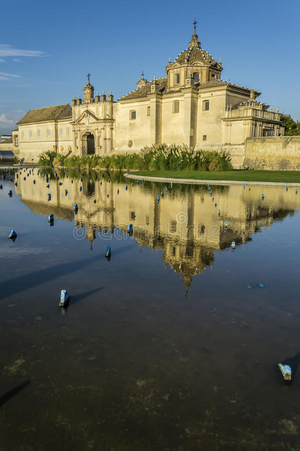 Carthusian Kloster in Sevilla lizenzfreies stockbild