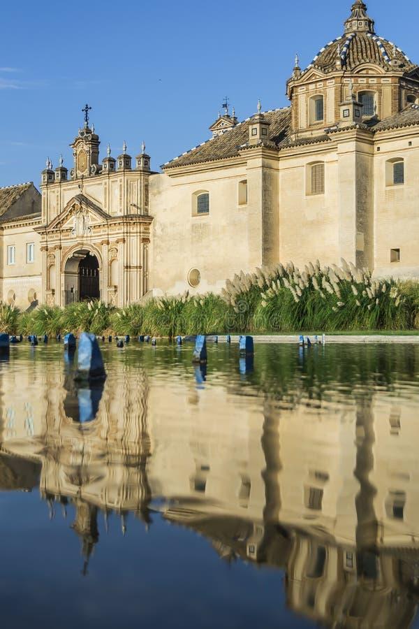 Carthusian Kloster in Sevilla stockfotografie
