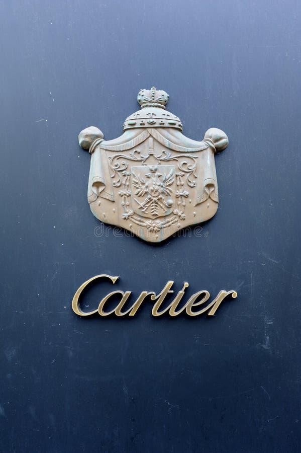 Cartier Boutique. Vienna, Austria - July 05, 2011: The logo on the Cartier boutique store. Vienna, Austria royalty free stock photo
