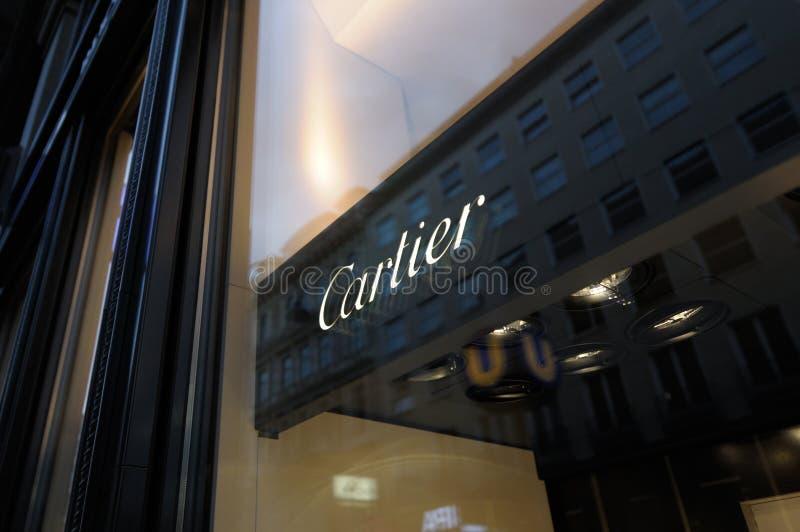 Cartier boutique logo stock photo