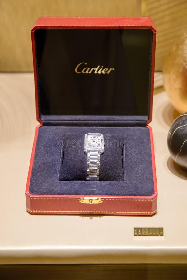 Cartier cysternowy zegarek, Bangkok, Tajlandia zdjęcie stock