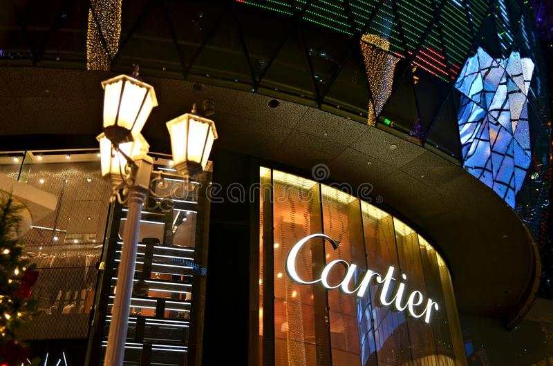 Cartier at ION Orchard. A Cartier store at ION Orchard, shopping mall in Singapore stock photos