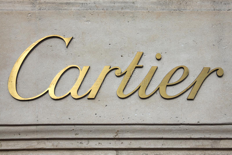 Cartier jewellery loga reklamowy znak zdjęcie royalty free