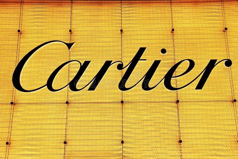 Cartier logo. In shanghai pudong,China royalty free stock photos