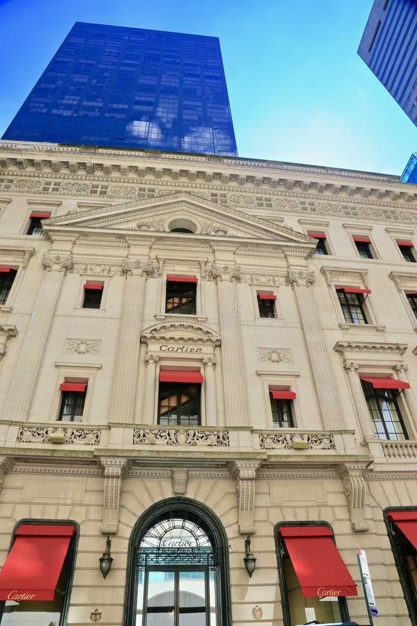 Cartier Mansion in de Stad van New York royalty-vrije stock foto's