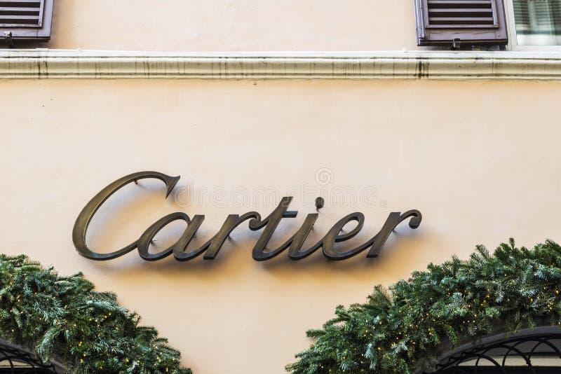 Cartier sklep w Rzym, Włochy obraz stock