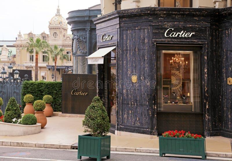 Cartier-Speicher nahe Monte Carlo Casino, Monaco stockfoto