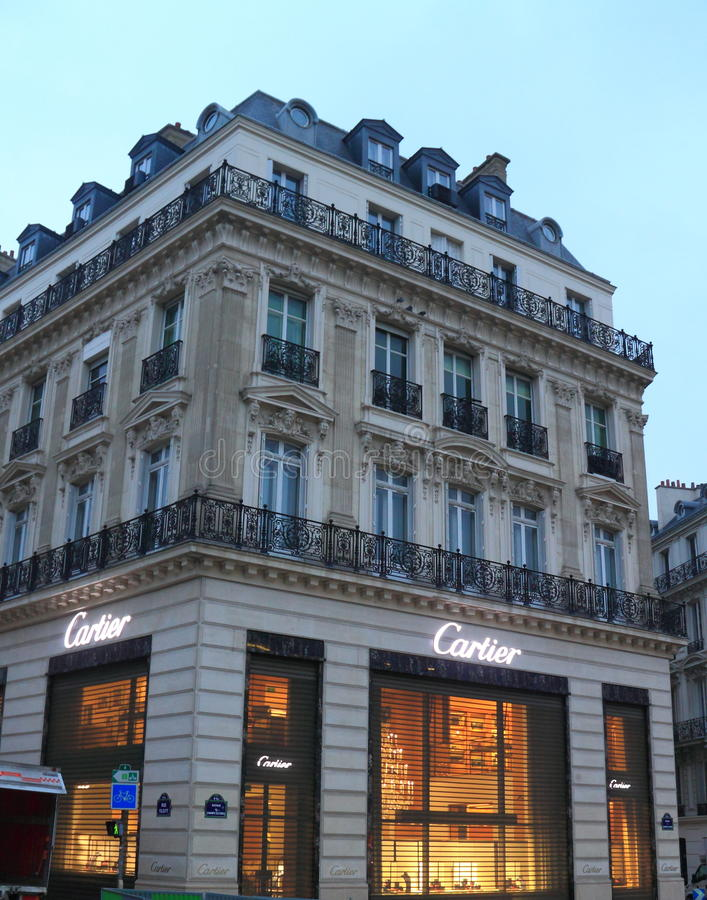 Cartier Store. At Champs Elysees Street, Paris, France royalty free stock photos