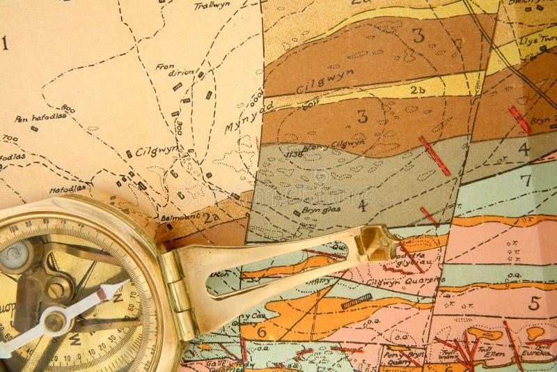 Cartographie géologique photos stock
