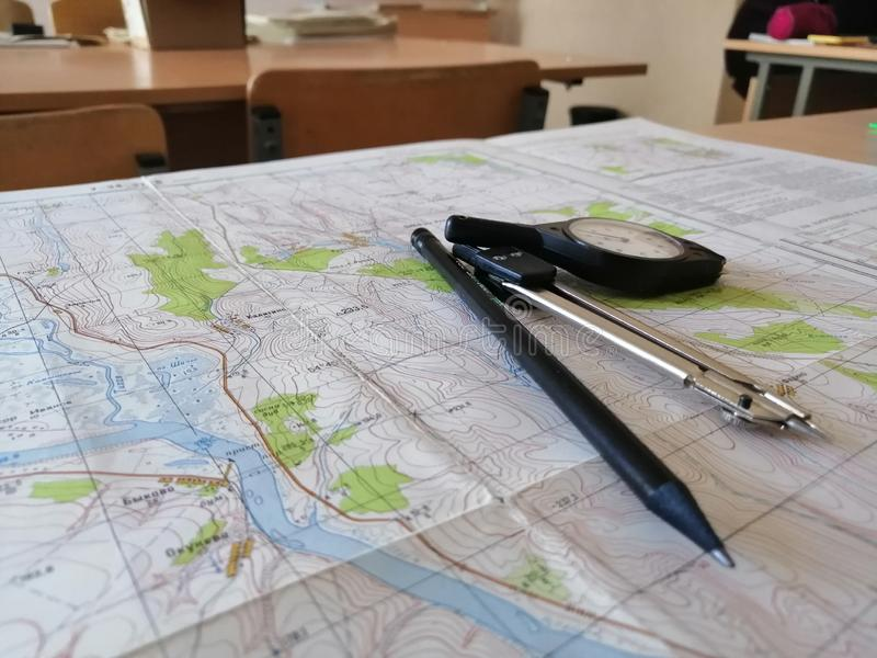 Cartography royalty free stock images