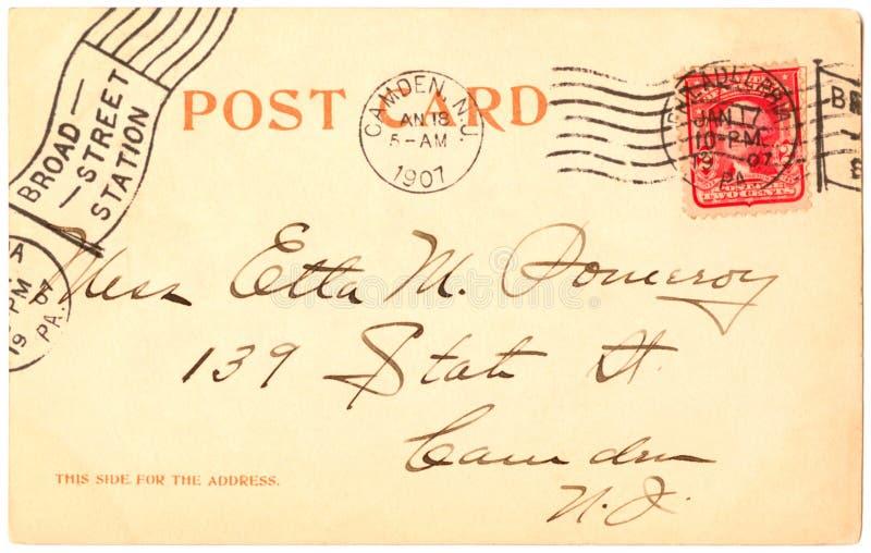 Cartolina - 1907 fotografie stock libere da diritti