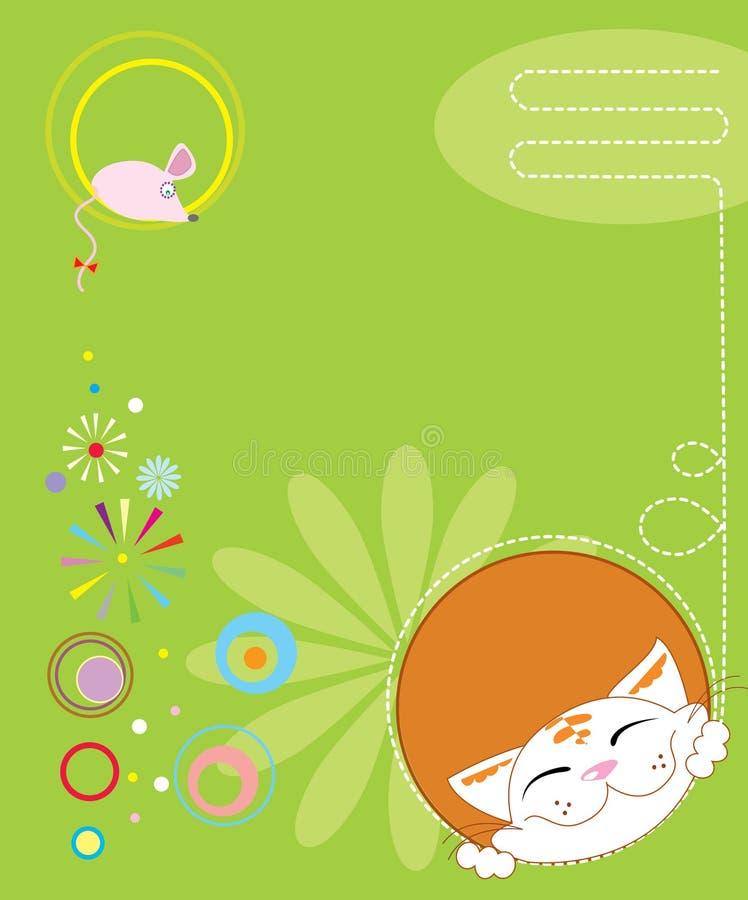 Cartolina illustrazione di stock