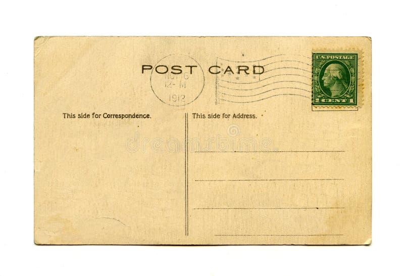 Cartolina antica fotografia stock