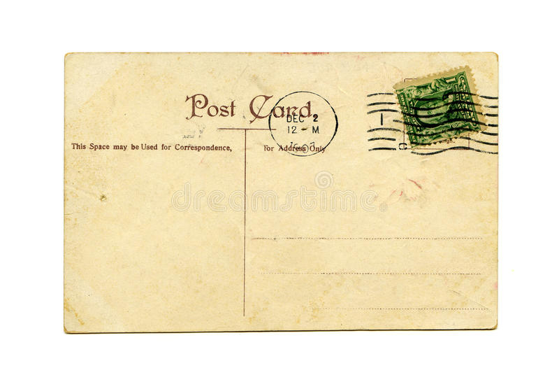 Cartolina antica immagine stock