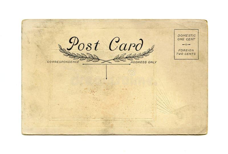 Cartolina antica fotografia stock libera da diritti
