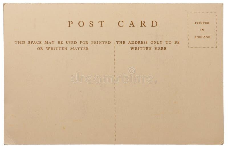 Cartolina antica immagini stock