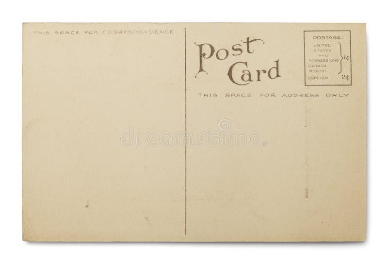Cartolina in bianco fotografie stock