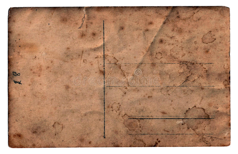 Cartolina in bianco dell'annata immagine stock libera da diritti