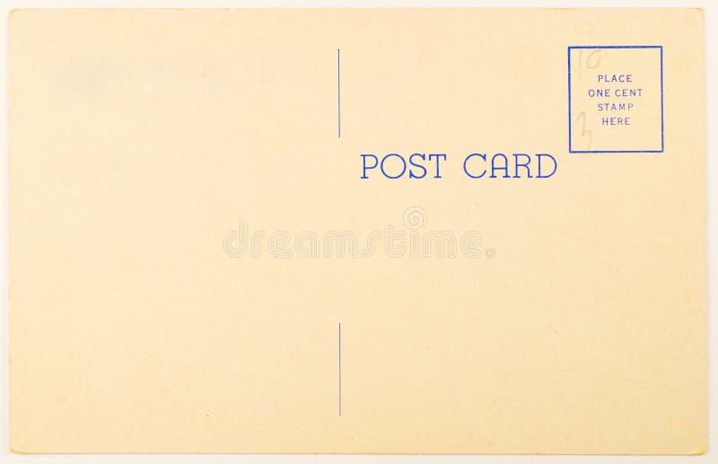 Cartolina in bianco dell'annata immagini stock