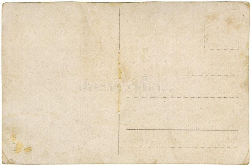 Cartolina in bianco dell'annata immagini stock libere da diritti
