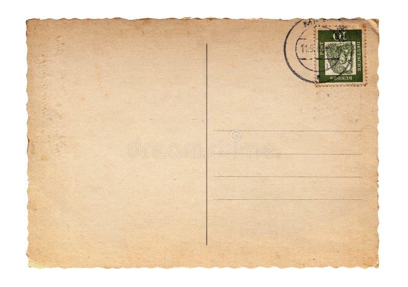 Cartolina in bianco dell'annata immagine stock