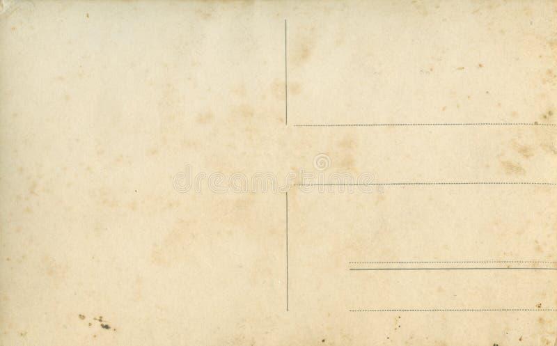 Cartolina in bianco dell'annata Vecchio fondo con lo spazio della copia fotografia stock libera da diritti