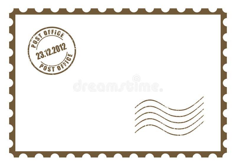 Cartolina in bianco di vettore illustrazione vettoriale
