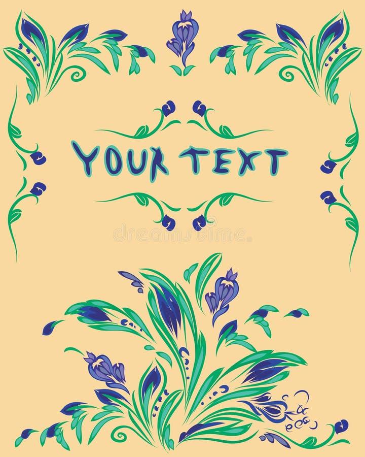 Cartolina colourful originale di primavera royalty illustrazione gratis