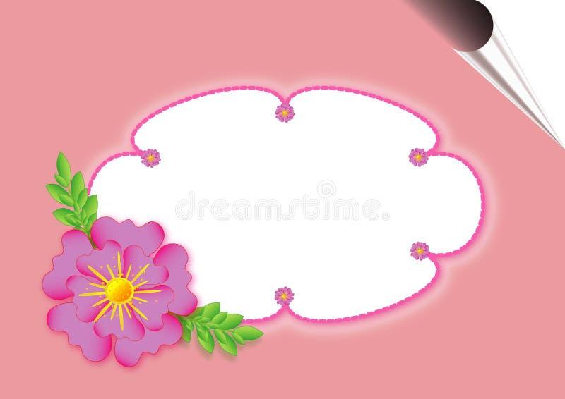 Cartolina con i fiori illustrazione vettoriale