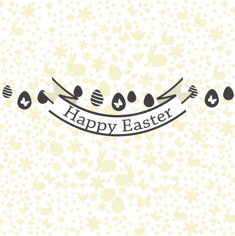 Cartolina con i saluti felici di Pasqua Progettazione del modello del fondo eps di vettore è disponibile illustrazione vettoriale