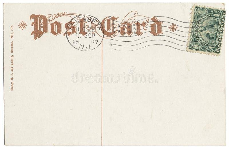 Cartolina con il bollo di Jamestown fotografia stock libera da diritti