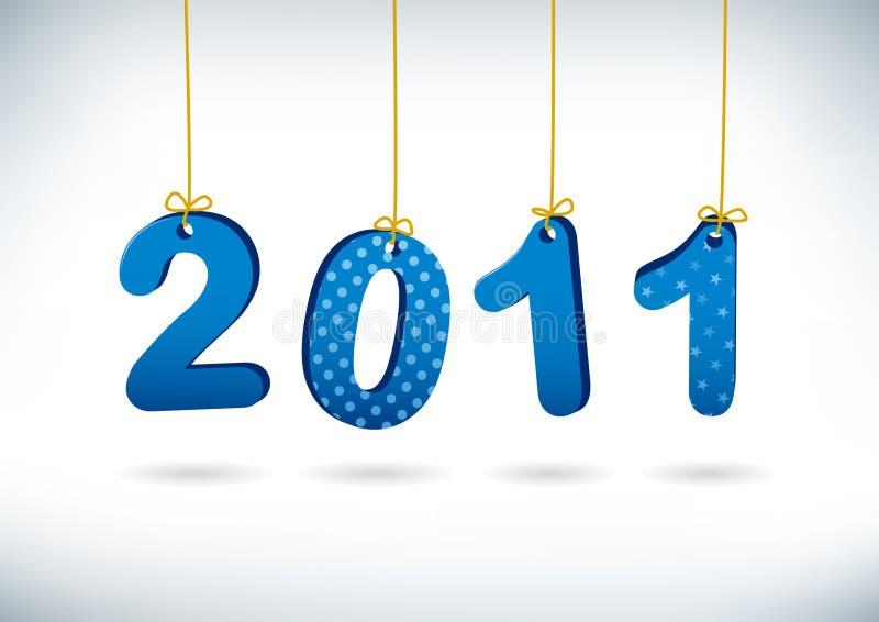 Cartolina d'auguri 2011 di nuovo anno felice. illustrazione vettoriale