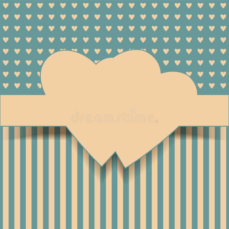 Cartolina d'auguri illustrazione di stock