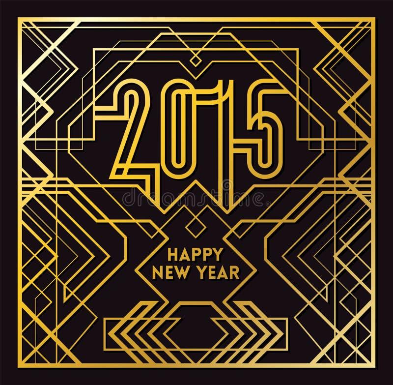 Cartolina d'auguri 2015 illustrazione di stock