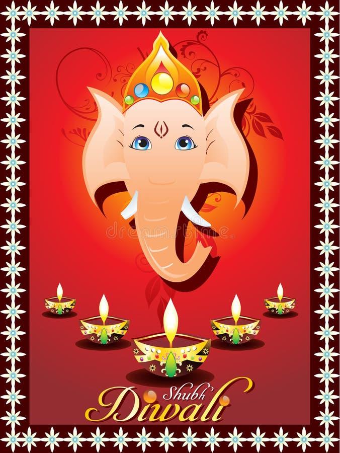 Cartolina d'auguri astratta di diwali royalty illustrazione gratis