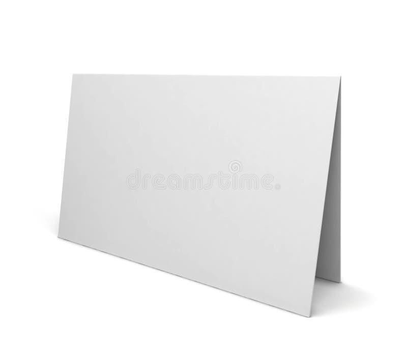 Cartolina d'auguri in bianco illustrazione di stock