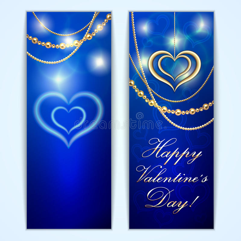 Cartolina d'auguri blu del biglietto di S. Valentino del san di vettore con royalty illustrazione gratis
