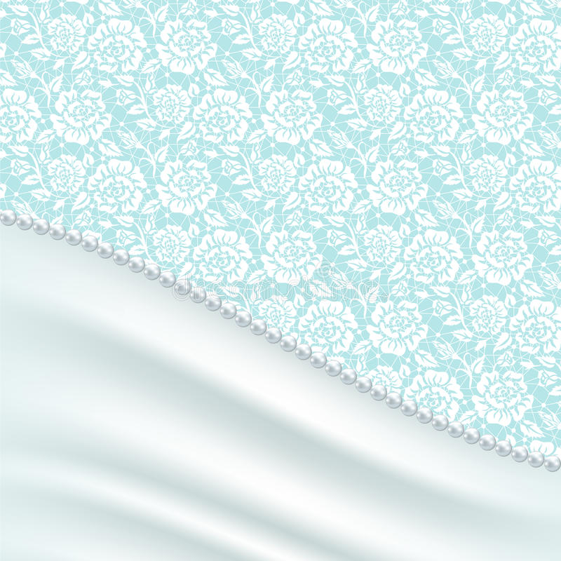 Cartolina d'auguri con drappi di seta illustrazione di stock