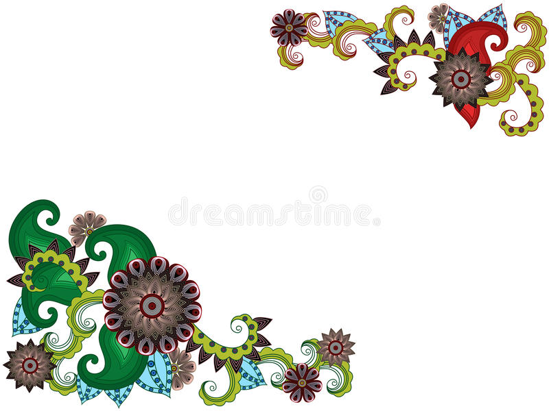 Cartolina d'auguri con i fiori stilizzati royalty illustrazione gratis