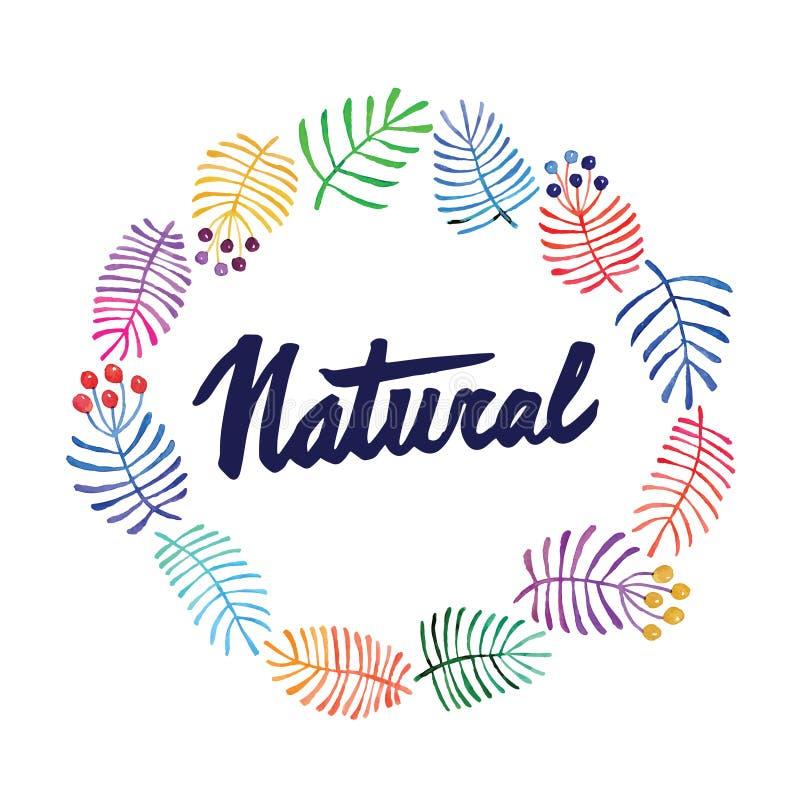 Cartolina d'auguri con i fiori watercolor Pittura della mano iscrizione naughty illustrazione di stock