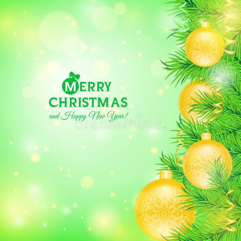 Cartolina d'auguri con l'albero di Natale royalty illustrazione gratis