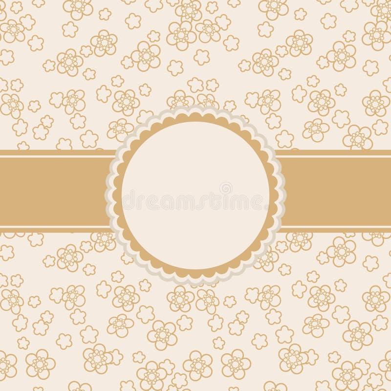 Cartolina d'auguri con l'ornamento floreale illustrazione vettoriale