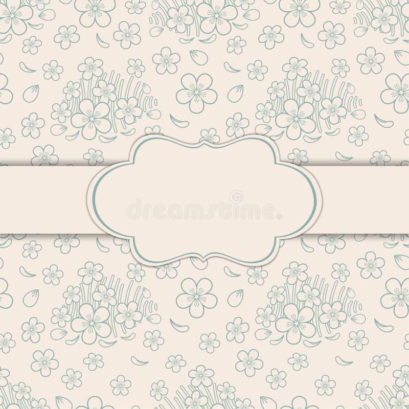 Cartolina d'auguri con l'ornamento floreale illustrazione di stock